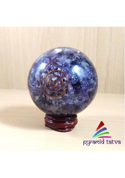 Natural Amethyst Orgone Ball (ptm-532)