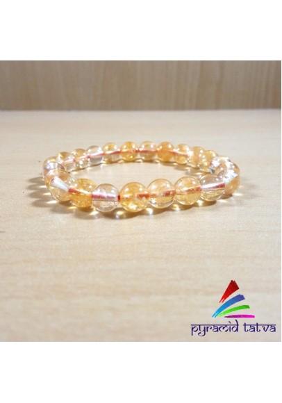 Natural Citrine Beads Bracelet (ptb-832)