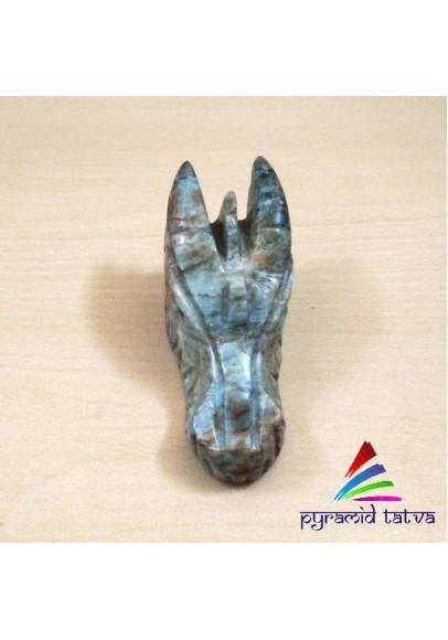 Natural Green Aqua Dragon Skull (ppc -36)