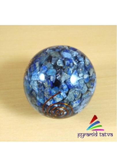 Natural Lapis Lazuli Orgone Ball (ptm-583)