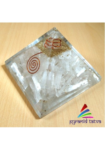 Natural Selenite Orgonite (ptm-462)