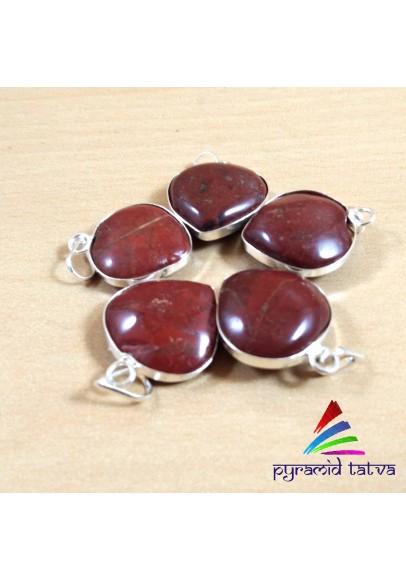 Red Jasper Heart Pendant (ptb-666)
