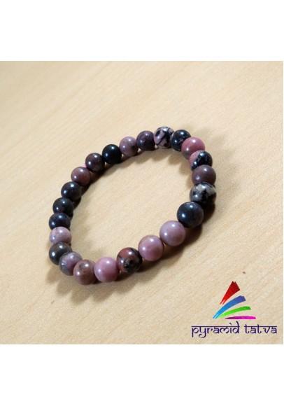 Rhodonite Bead Bracelet (ptr-6957)