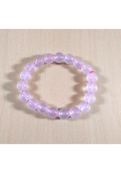 Rose Quartz Beads Bracelet (ptt-59848)