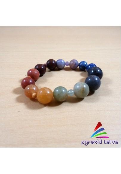 Seven Chakra Bead Bracelet (ptb-52)