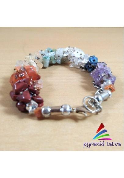 Seven Chakra Uncut Bracelet (ptb-79)