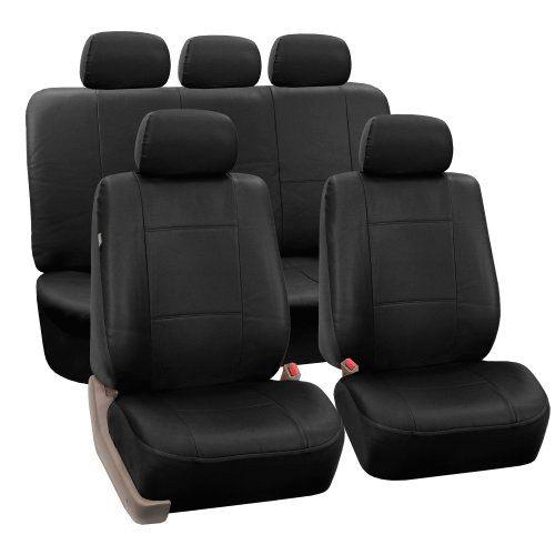 Black Rexine Car Seat Covers