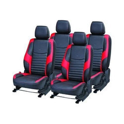 Red & Black Rexine Car Seat Covers