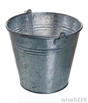 galvanized oval bucket