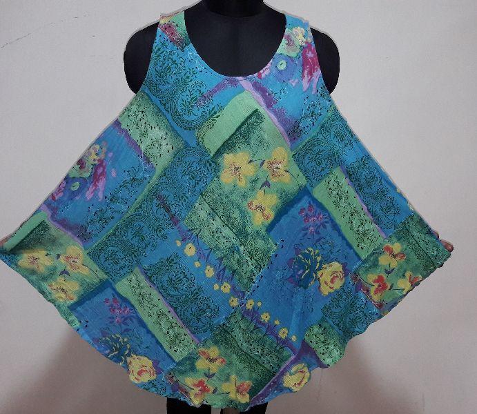 Printed short umbrella dress