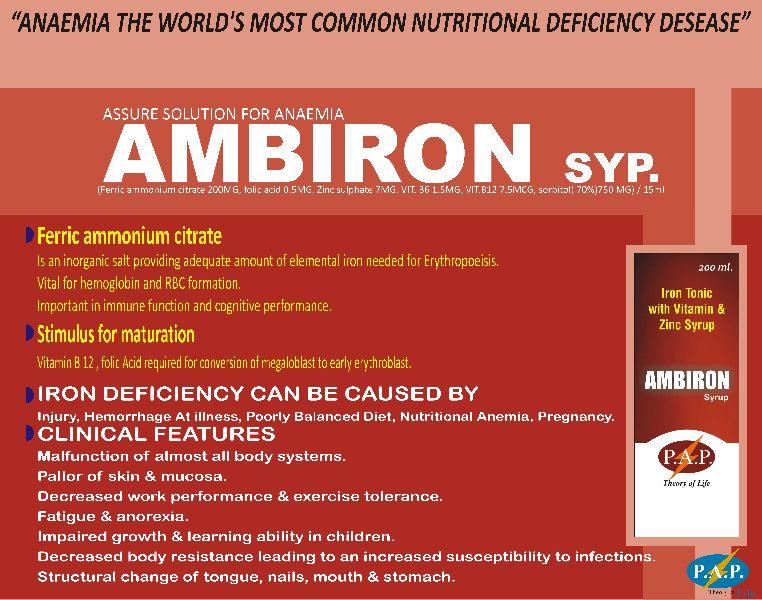 ambirion 200 ml syrup Manufacturer in AURANGABAD Maharashtra