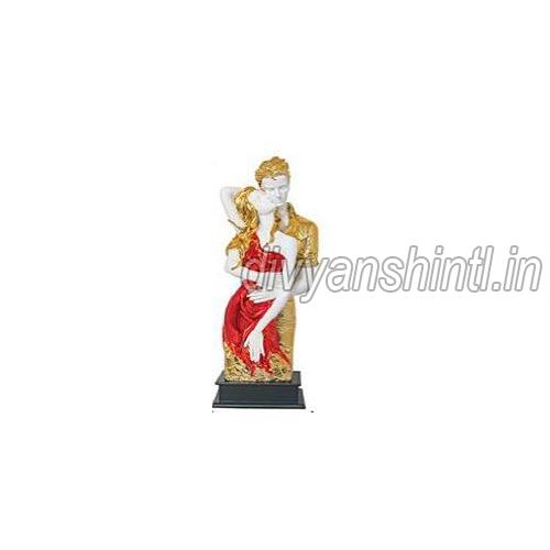 Gold Plated Couples Statue