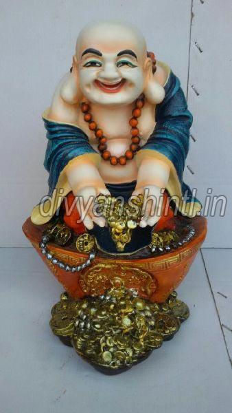 Marble Dust Laughing Buddha Statue