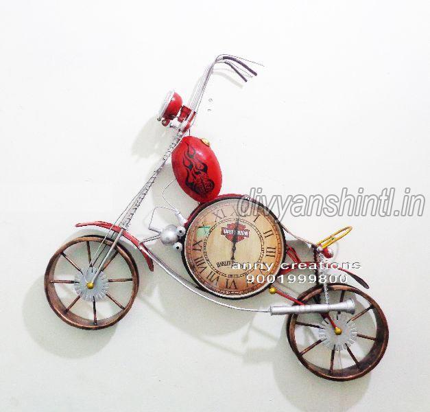 Metal Bike Clock