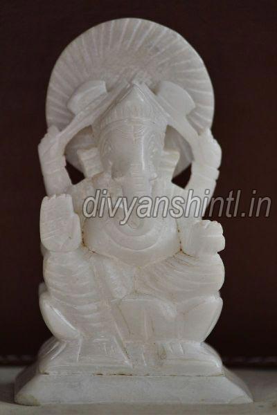 White Stone Ganesh Statue