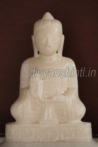 White Stone Jain Mahavir Statue