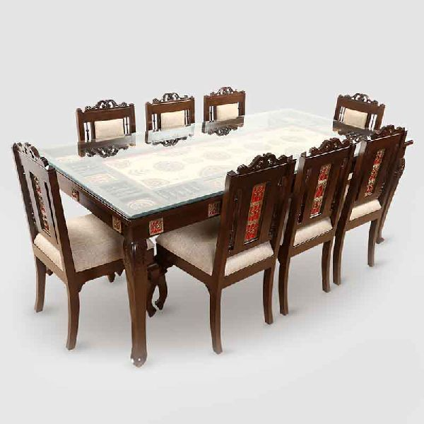 Teak Wood 8 Seater Dining Table Manufacturer In United Arab