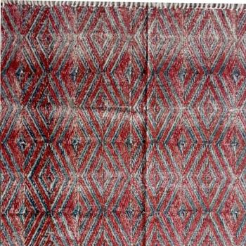 180*120cm handmade flat weave cotton block printed rug carpet