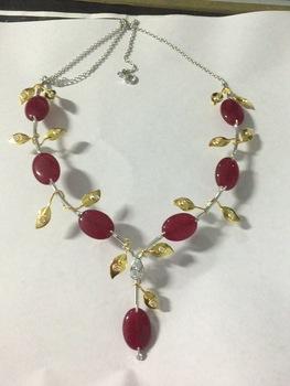 jade silver necklace