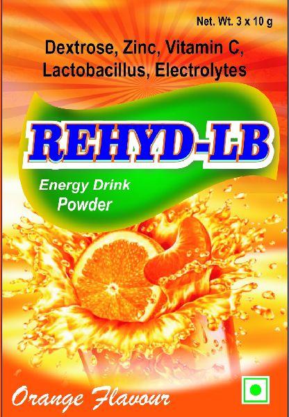 Orange Rehyd LB Energy Drink Powder