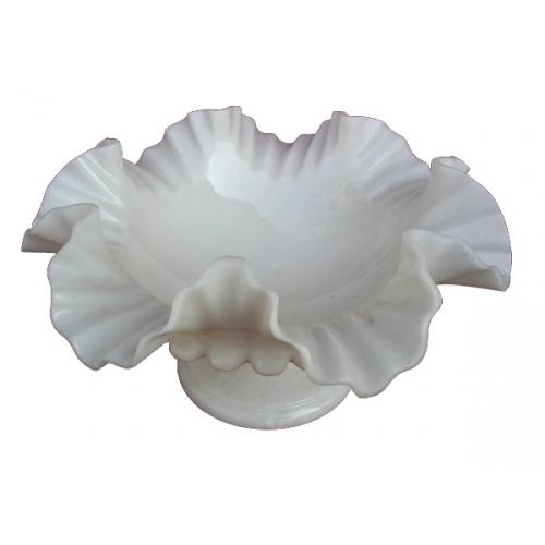 Marble White Bowl 12''