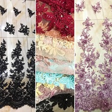 Best Selling Nigeria Lace Fabric With Beads