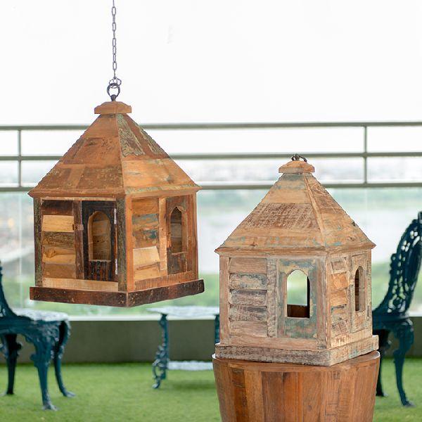 Dwar Reclaimed Wood Vintage Bird House In Natural Finish (FN.DA.DWAR.N)