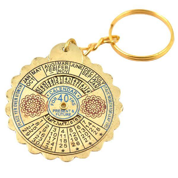 Big Flower 40 Year Perpetual Calendar Keychain
