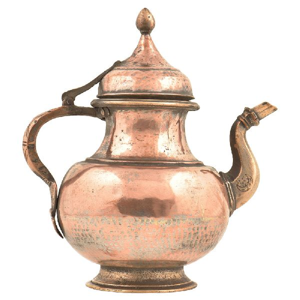 Brass Hand Hammered Copper Holy Water Pot