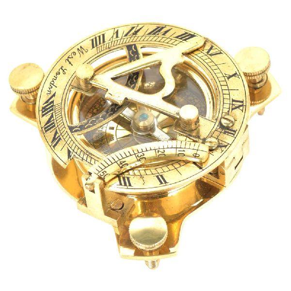 Brass Nautical Marine Sundial Compass