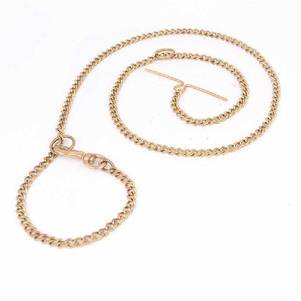 Brass T-Bar Dog Chain