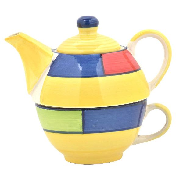 Ceramic Cup With Kettle Set