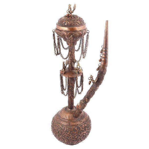 Copper Hookah Embossed Design and Ornamentation
