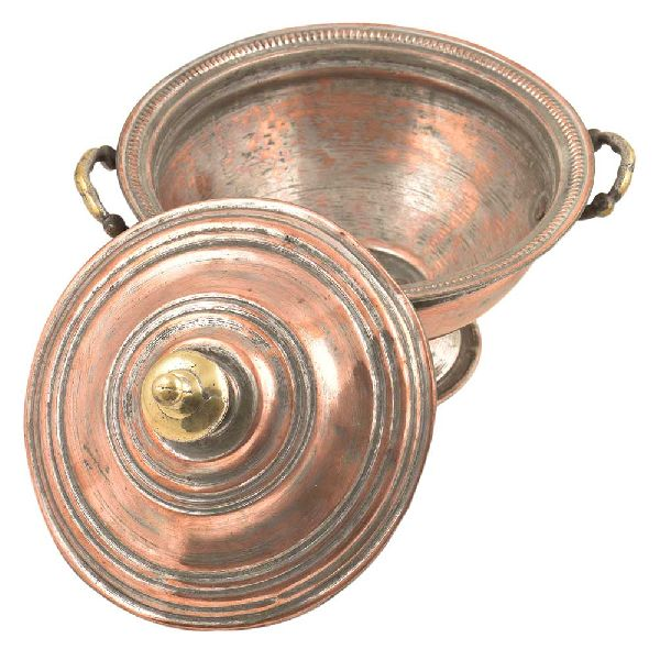 Copper Sugar Bowl With Lid