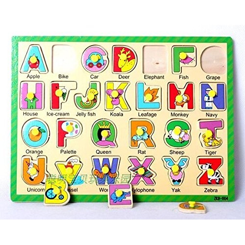 Eco Friendly Wooden a To Z Board Pictures Toy