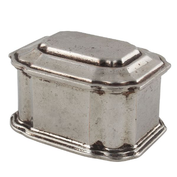 Octagonal Metal Small Jewellery Box