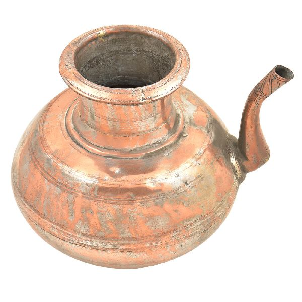 Old Copper Handcrafted Solid Holy Water Pot