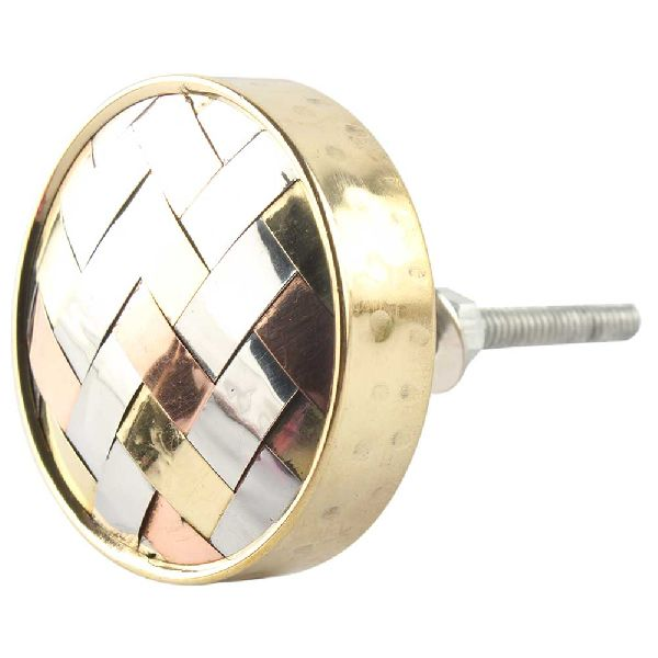 Silver Round Metal Wood Cabinet Knobs