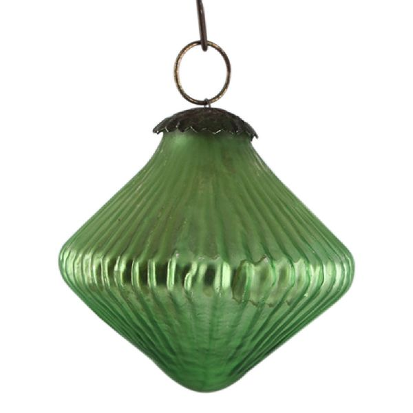 Top Pea Green Tiny Diamond Christmas Ornament