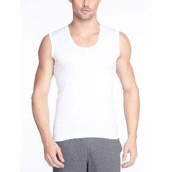 Cotton White Mens Inner Vest
