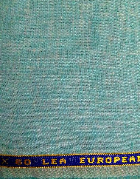 NS Fabric Light  Green 100% Pure Linen Lea 60*60 Fabric
