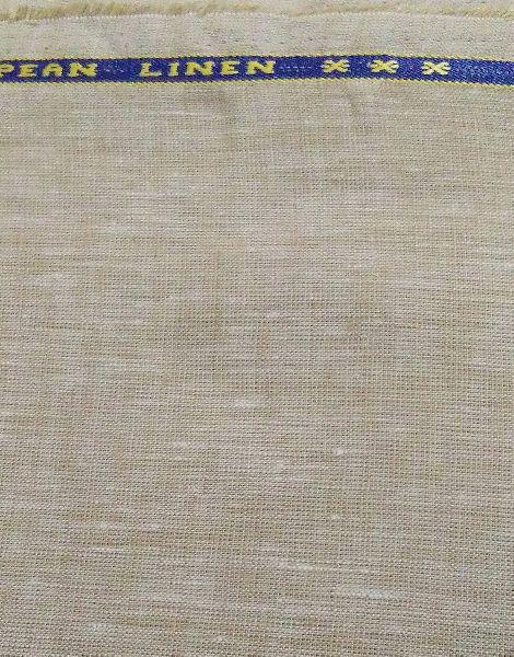 Ns Fabric Plain 100% Pure Linen Lea 60*60 unstiched Fabric