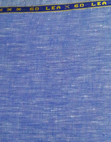 NS Fabric Vista Blue100% Pure Linen Lea 60*60 Fabric (NS-2536)