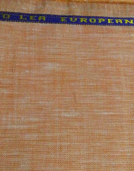 NS FabricOrange100% Pure Linen Lea 60*60 Fabric (NS- op256)