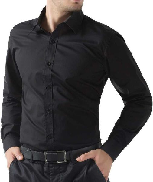 Mens Black Formal Shirt Manufacturer in