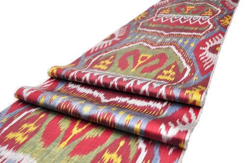 Raw Silk Ikat Silk Fabric