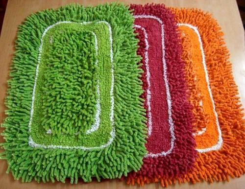 Multicolor Shaggy Bath Mat
