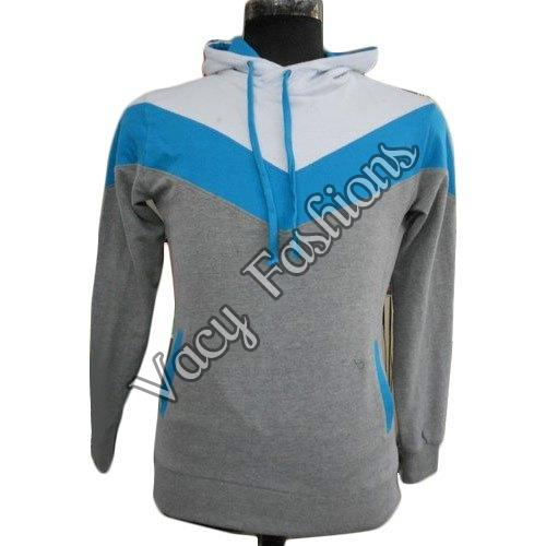 Mens Hooded Woolen Sweatshirt