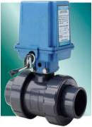 True Union Ball Valves with Low Cost Electric Actuator