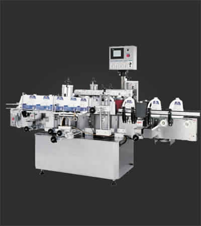 Front Back Labeler with Wrap Station
